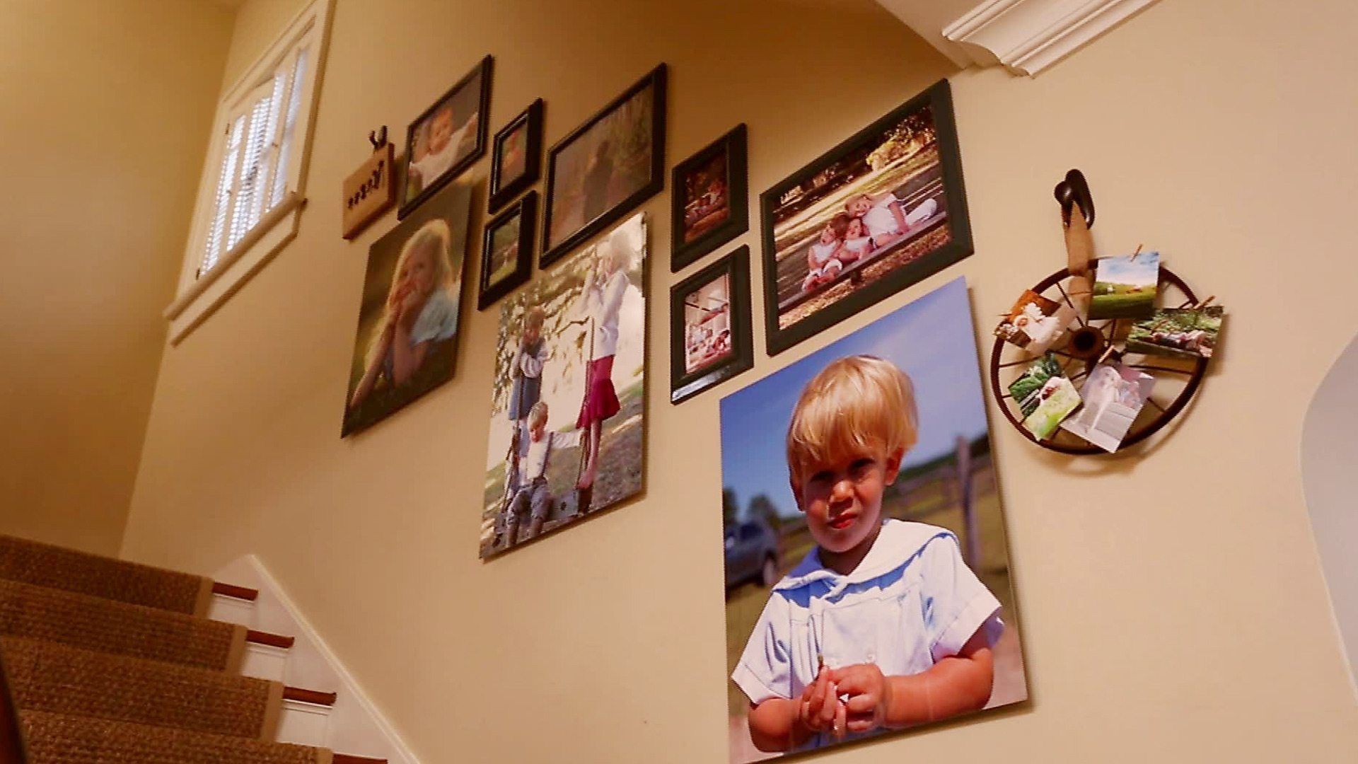 Make any stairway unique with a photo gallery wall.